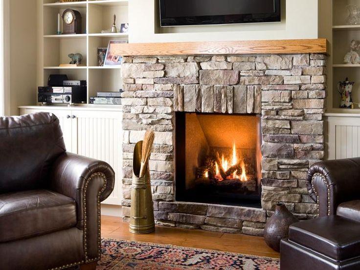 Wonderful rustic stone fireplaces home pinterest - Piedras para chimeneas ...