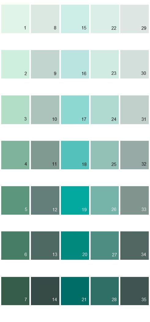 Behr Paint Colors Colorsmart Palette 24 3 480c Aqua Bay 17 490a Sweet Rhapsody 18 490b 4 Sea Life 19 5 Cozu Color Pallets In