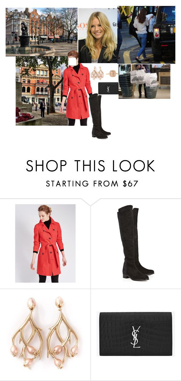 """""""Being Photographed Shopping at Peter Jones Department Stores"""" by emiliaduchessofcambridge ❤ liked on Polyvore featuring BOSS Orange, Elia B, Shaun Leane and Yves Saint Laurent"""