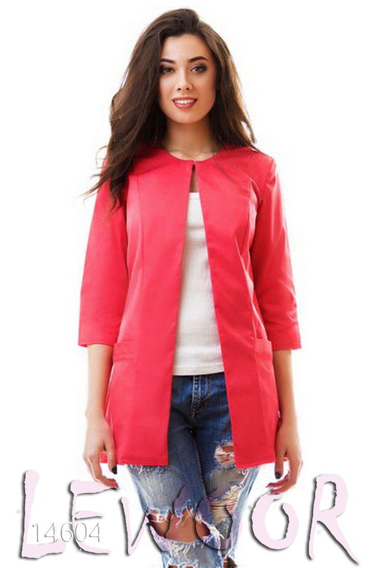 Пиджак удлинённый с рукавом 3/4 - купить оптом и в розницу, интернет-магазин женской одежды lewoor.com
