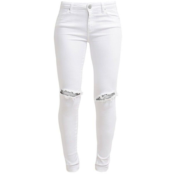 Fiveunits PENELOPE Slim fit jeans (3.345 CZK) ❤ liked on Polyvore featuring jeans, pants, bottoms, white, slim jeans, print jeans, super skinny jeans, white skinny jeans and womens tall jeans