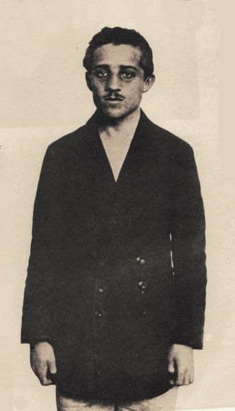 Gavrilo Princip, (13 July 1894 – 28 April 1918) was the man who assassinated Archduke Franz Ferdinand of Austria and his wife, Sophie, Duchess of Hohenberg, in Sarajevo on 28 June 1914. Princip and his accomplices were arrested and implicated a number of members of the Serbian military, leading Austria-Hungary to issue a démarche to Serbia known as the July Ultimatum. This set off a chain of events that led to World War I