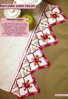 MIRIA CROCHÊS E PINTURAS: BARRADOS DE CROCHÊ BORDADOS