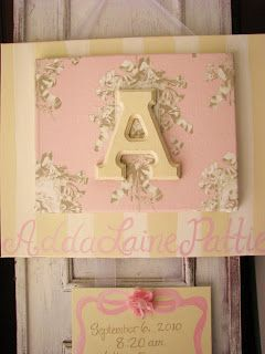 Ooh Wee Designs: Birth Announcement Canvases