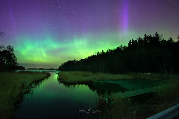 """Aurora reflections"" Part of the massive solar storm on 17/3/2015 near Naantali"