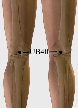 UB 40 or Urinary Bladder 40 is one of the most important #acupressurepoints
