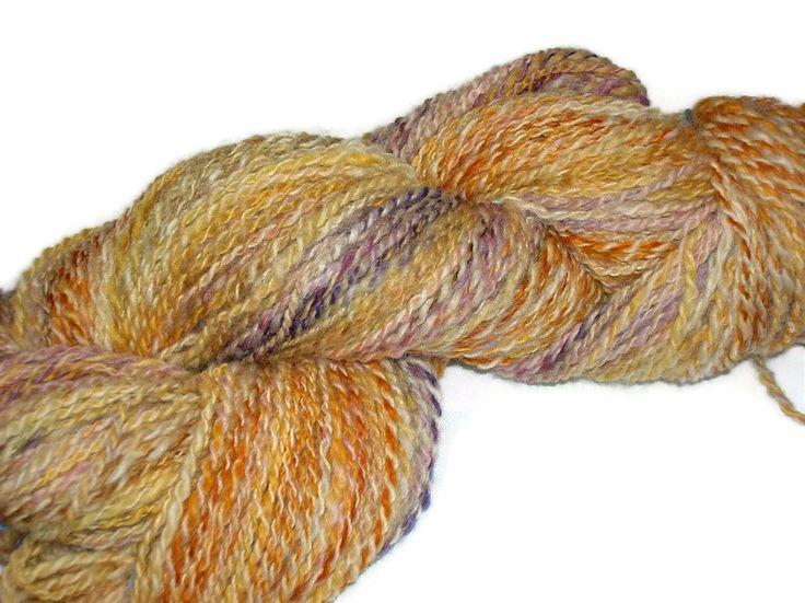 Handspun, Hand Dyed Falkland Wool Art-Yarn.