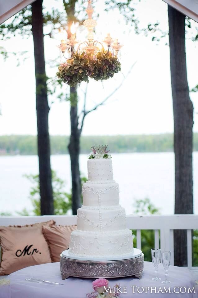Huge Cake!!! And beautiful location and decor!