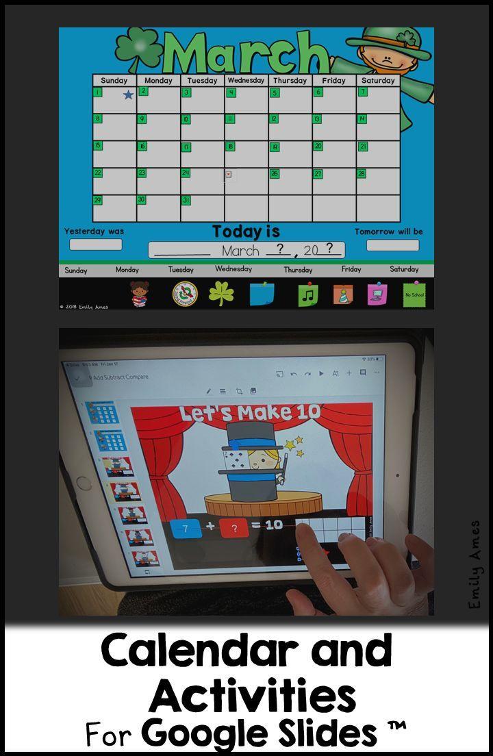 Digital Calendar For Google Slides Distance Learning Calendar