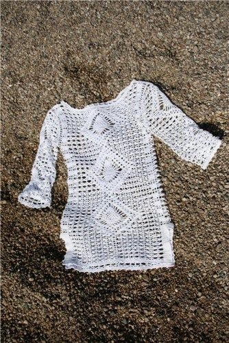 summer crochet tunic pattern diagrams pdf | marifu6a - Patterns on ArtFire