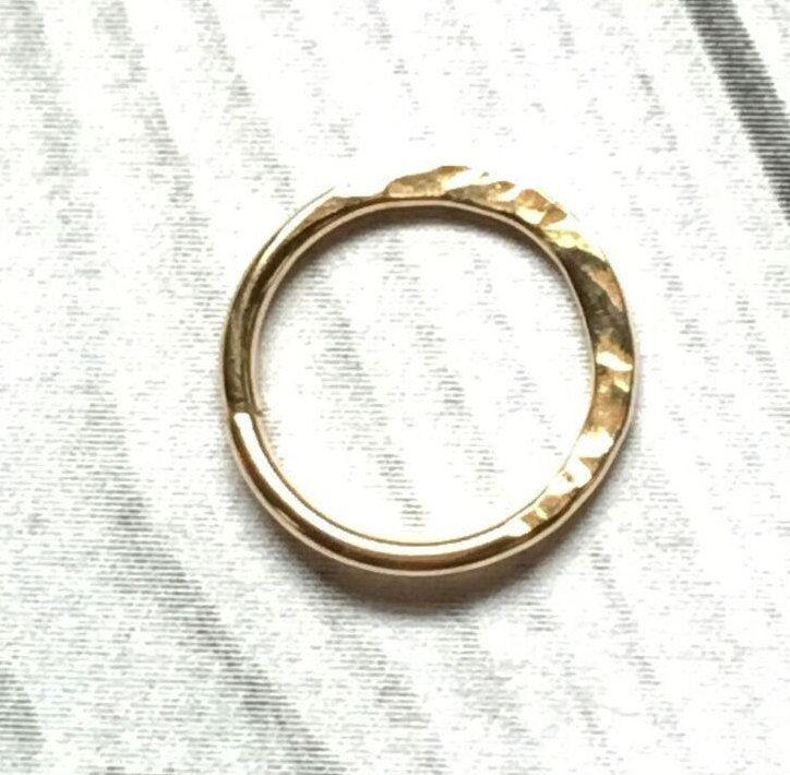 7981011023ed8 24K Gold Hammered Hoop, 20, 22 Gauge, 24K Gold Nose Ring, 24K Gold ...