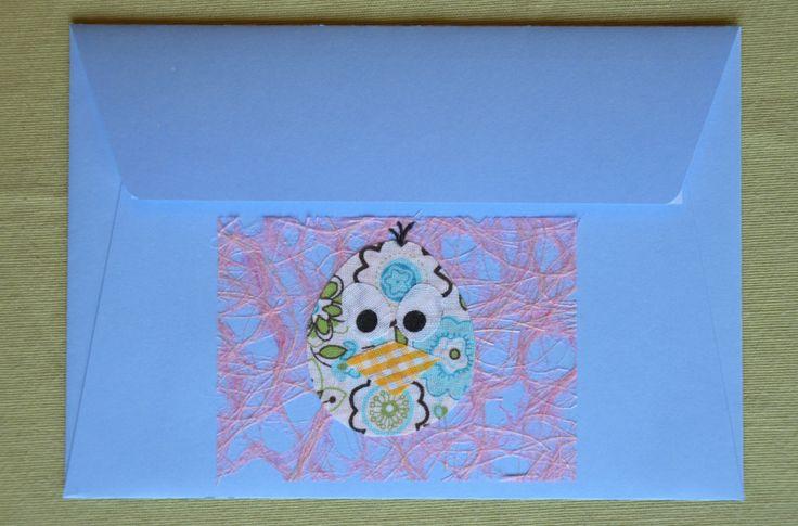 Enveloppe oiseau avec tissu adhésif par Decorationgles