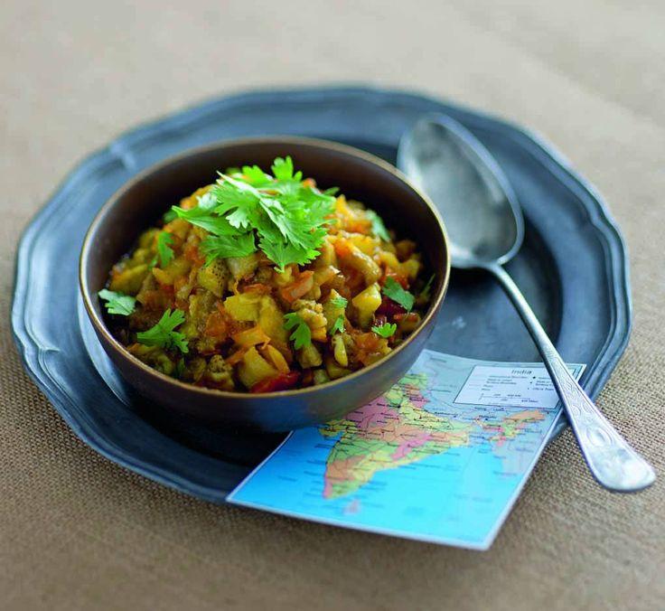 Un piatto dalle origini indiane in cui le melanzane si sposano con una delle più pregiate miscele di spezie dal potere riscaldate, il garam masala