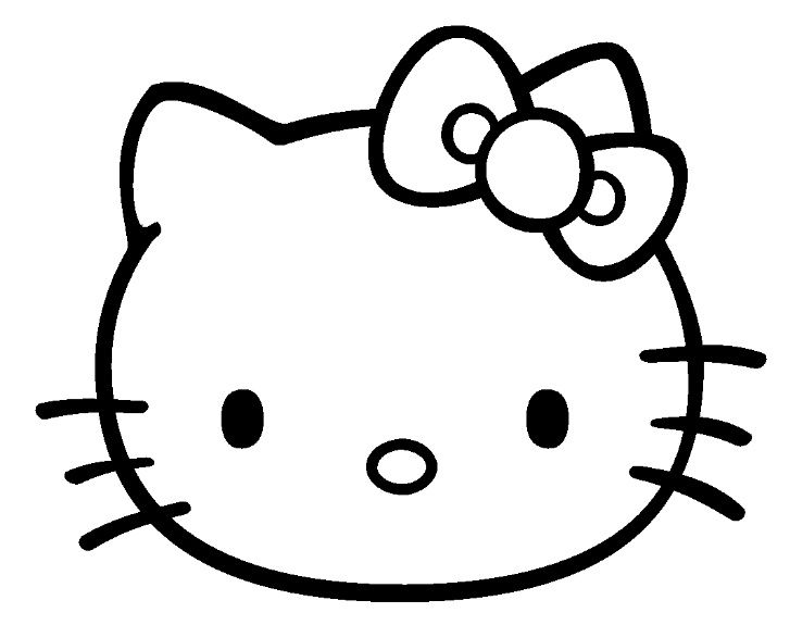 Nice Comment Dessiner Hello Kitty Facilement #8: Coloriage Hello Kitty à Colorier - Dessin à Imprimer