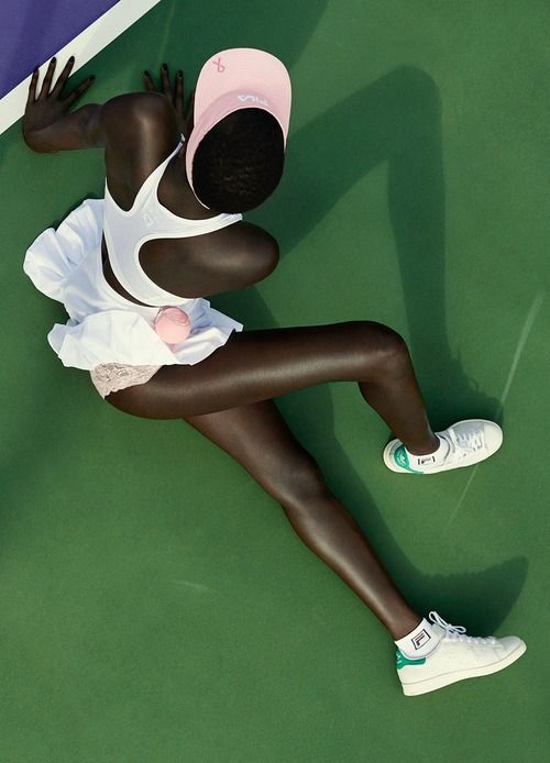 bodyfluids:  Ataui Deng for Fat Man Magazine S/S 2014, photographed by Julia Noni