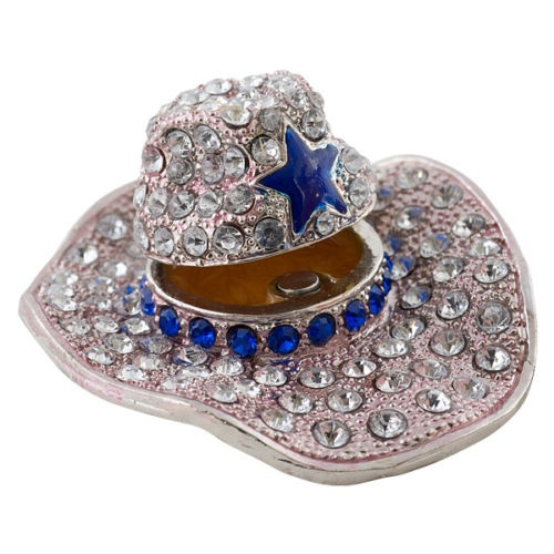 "Objet d'Art Release #23 ""Texas Ten Gallon"" Cowboy Hat Jeweled Trinket Box 