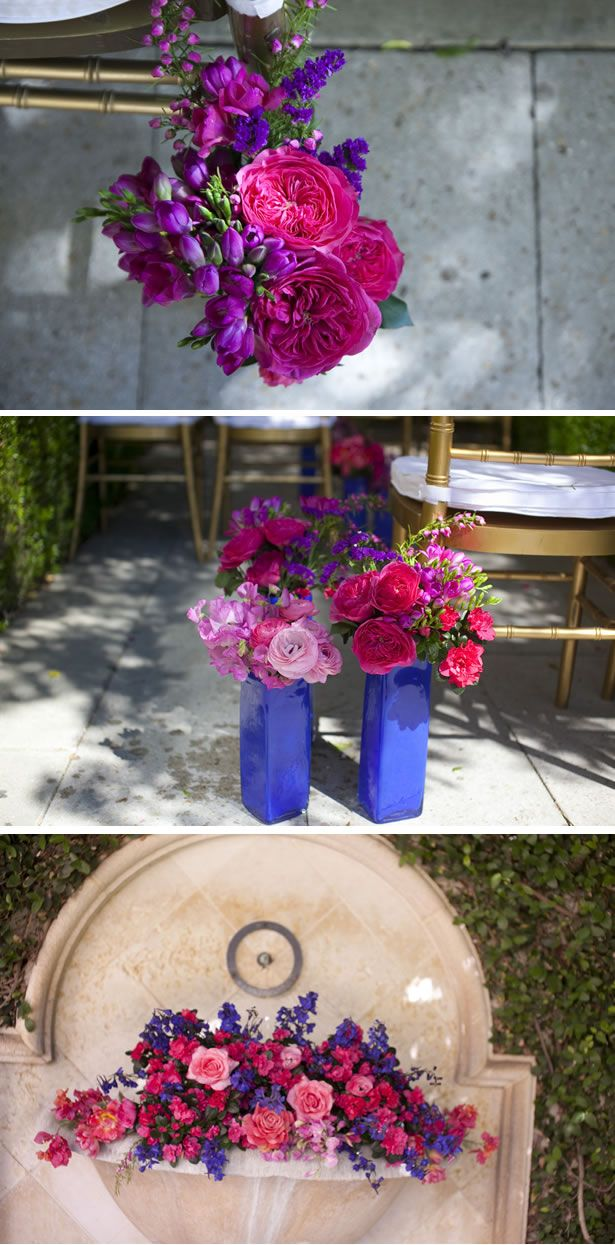 Vibrant Pink and Blue Spring Wedding Styled Shoot in California