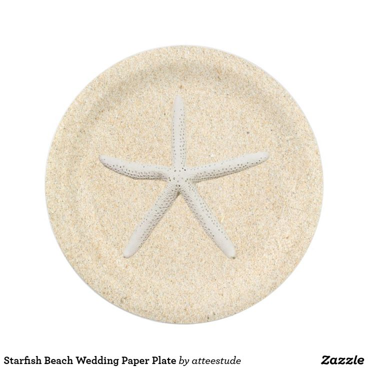 Starfish Beach Wedding Paper Plate Style your upcoming event with sophistication with this sleek starfish paper plate.