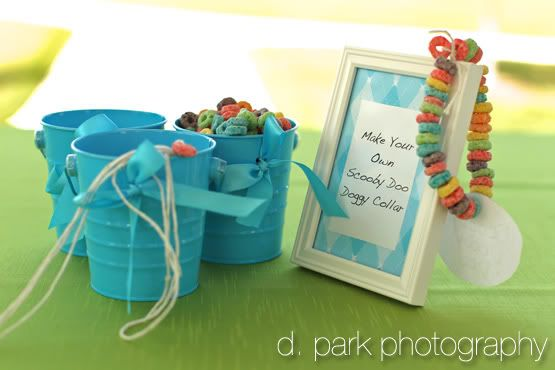 Floral Sense: The Blog: Scooby Doo Themed Birthday Party: Like the dog collar idea...good party food for kids and good back up activity.
