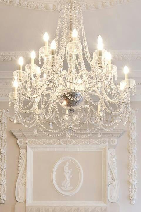 Chandelier with pearls