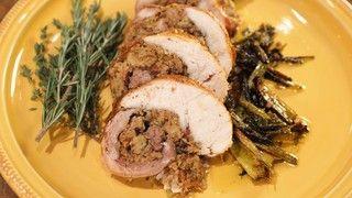 Turkey alla Porchetta with Focaccia Sausage Stuffing Recipe | The Chew - ABC.com
