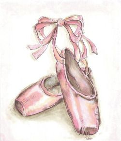 Painted-Perfections - Pink Ballet Slippers