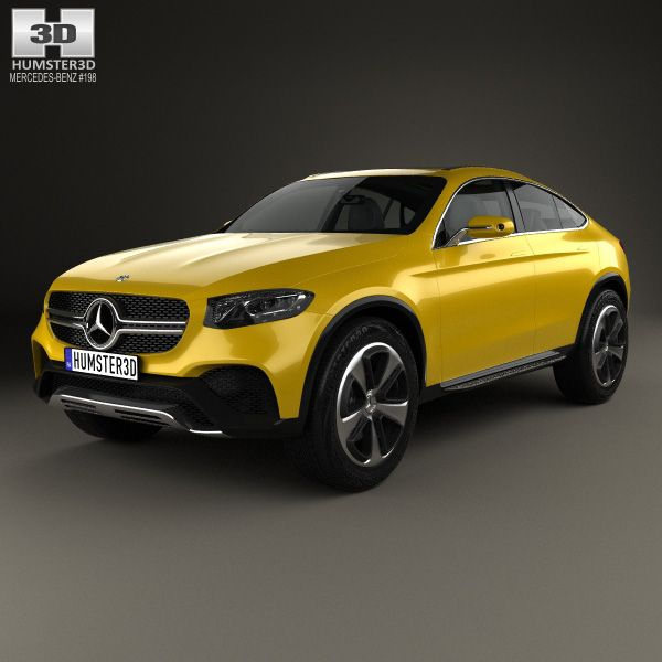 mercedes benz glc coupe 2014 3d model from humster3dcom price 75