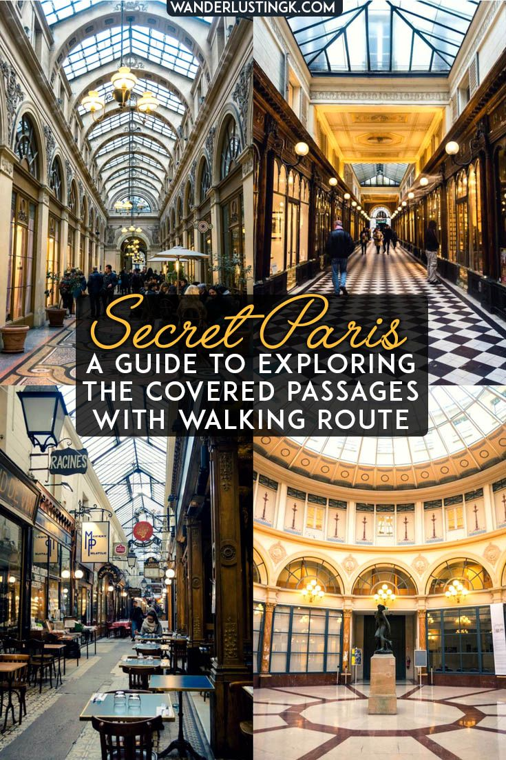 Covered Passages of Paris: A free self guided walking tour of Paris arcades with map