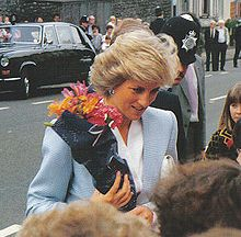 The Princess of Wales on a royal visit for the official opening of the community centre on Whitehall Road, Bristol in May 1987.