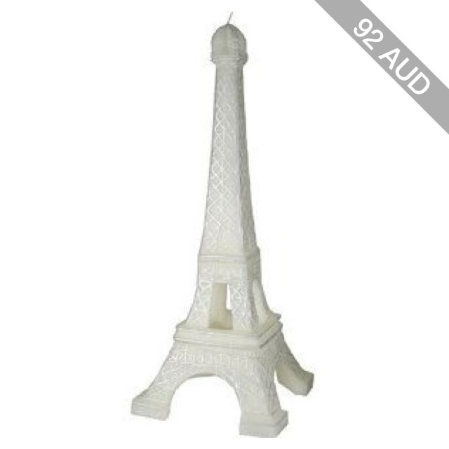 Point a la Ligne Large Eiffel Tower Candle: Kitchen & Dining