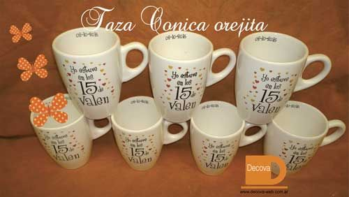 Tazas 15 a os decoracion personalizada para souvenirs - Decoracion de tazas ...
