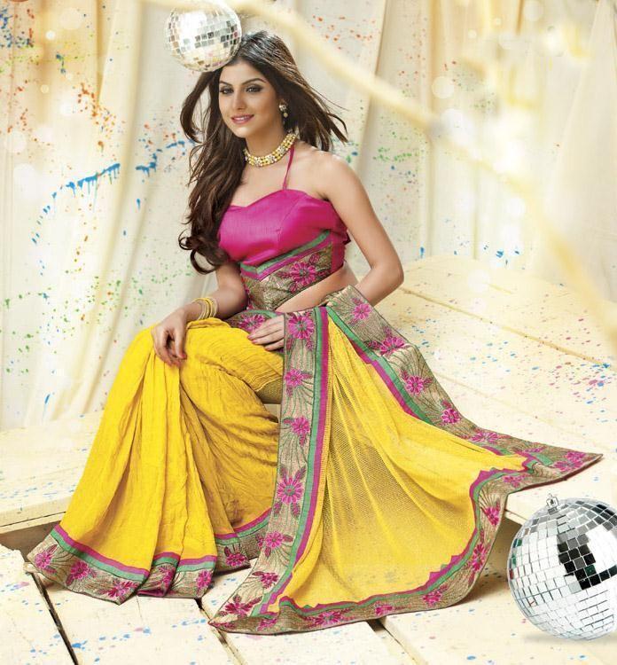 Buy 1 Get 1 Free Sari Pakistani Partywear Indian Bollywood Dress Designer Ethnic #TanishiFashion