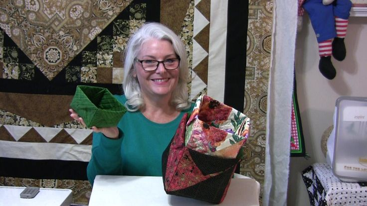 Picture of fabric boxes using quilting skills