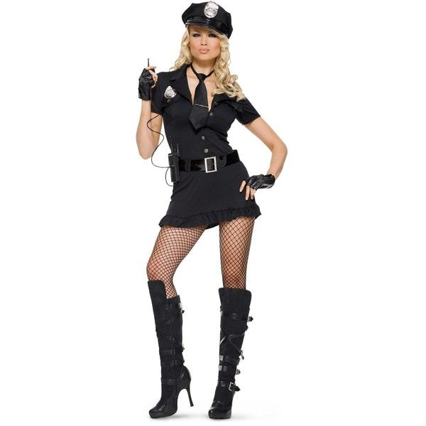 lady cop adult costume 55 liked on polyvore featuring costumes halloween costumes - Girls Cop Halloween Costume