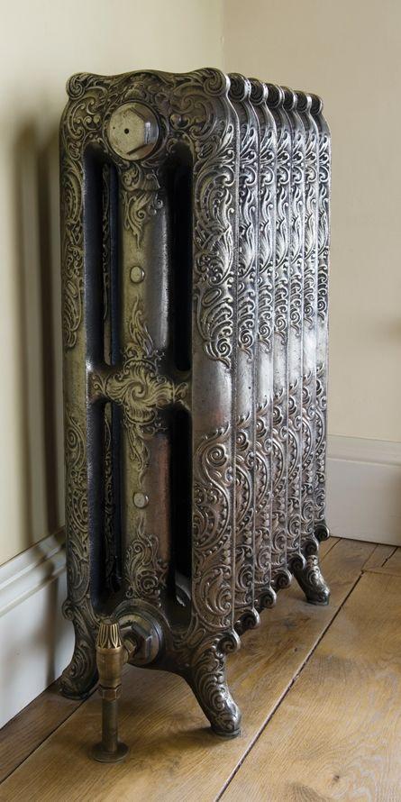 Rococo Cast Iron Radiator in period property