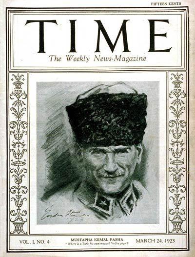 Gâzi Mustafa Kemal Paşa, 24 Mart 1923 tarihli Time dergisinin kapağı