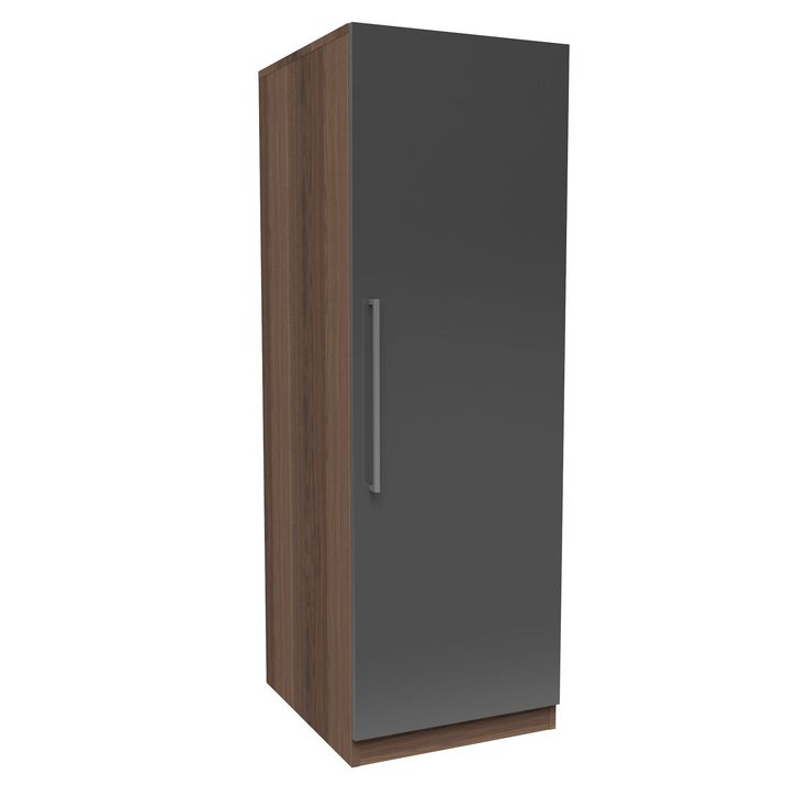 Darwin Handpicked Walnut Effect & Anthracite Single Wardrobe | Departments | DIY at B&Q
