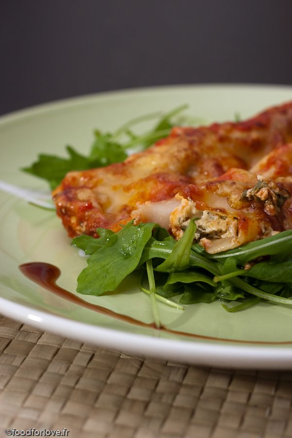 Cannelloni Ricotta et Roquette, Sauce Marinara