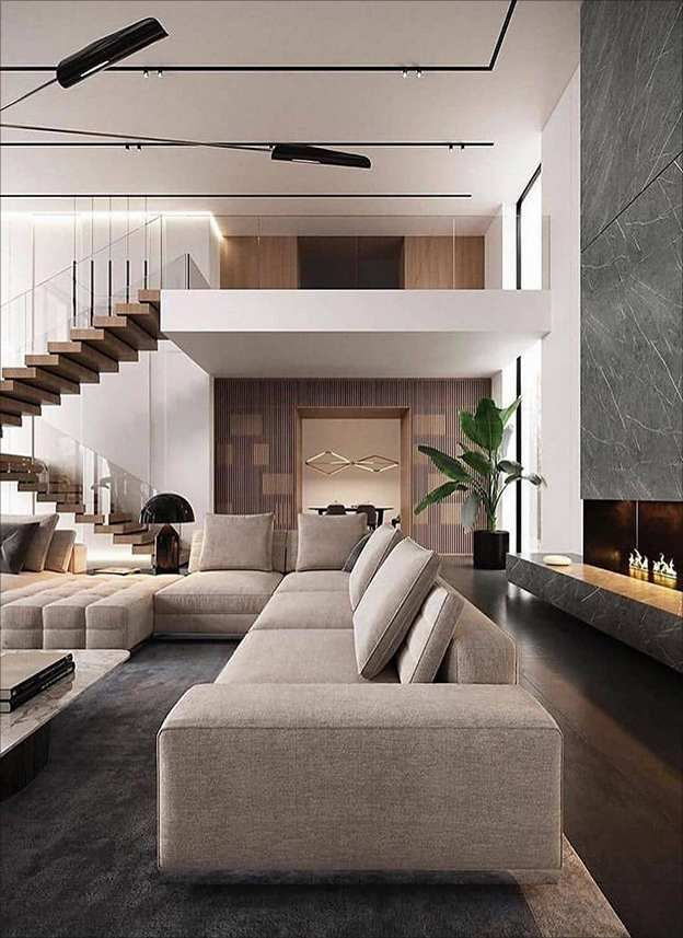 Dream House Penthouse In Moscow Modern Living Room Interior Modern Bedroom Interior Interior Design
