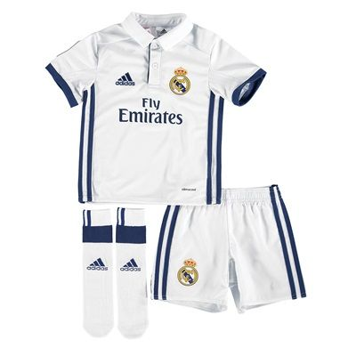 Real Madrid Home Mini Kit 2016-17: Real Madrid Home Mini Kit 2016-17 With ventilating climacool®… #RealMadridShop #RealMadridStore