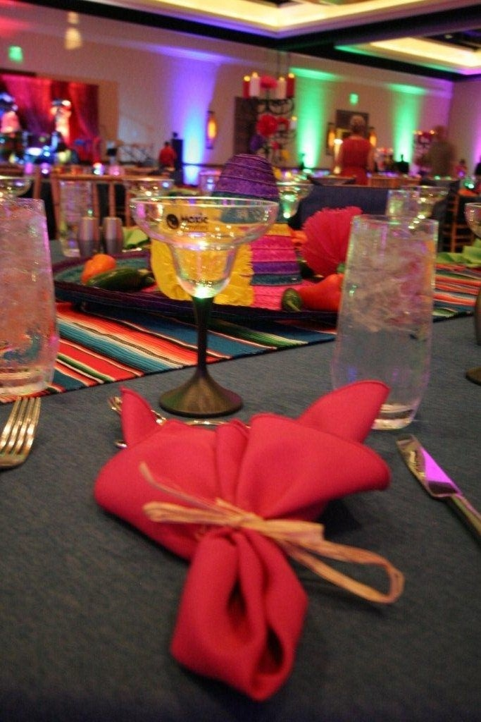 Napkin and margarita glass detail shot