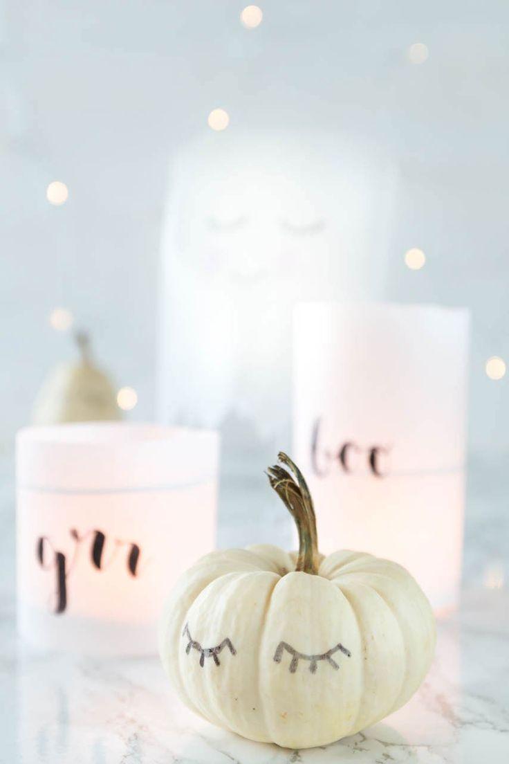 Halloween Deko basteln - gruselige Windlichter