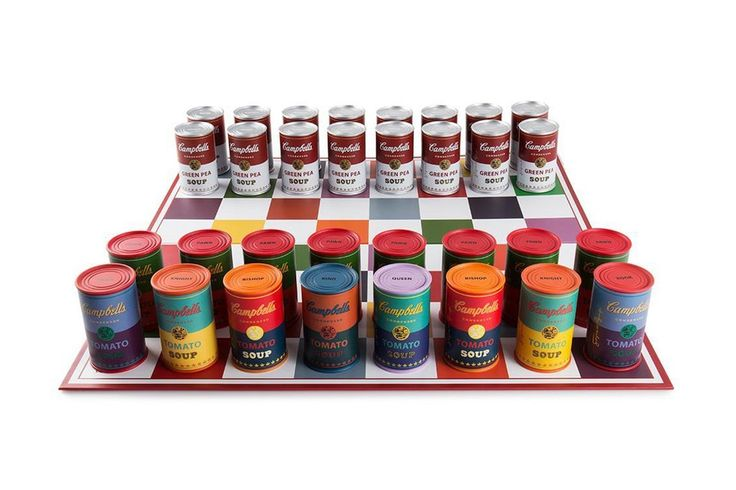 Kidrobot Links with The Andy Warhol Foundation to Launch Soup Can Chess Set
