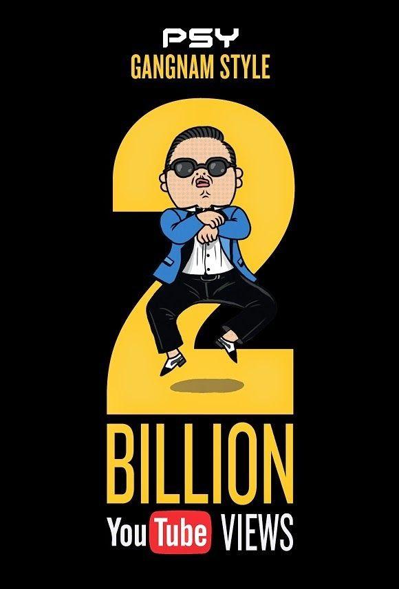 Psy's 'Gangnam Style' Hits 2 Billion YouTube Views  #psy #gangnamstyle #gangnamstylegirl #youtube #psy #psygangnamstyle #kpop #ygpsy #yg