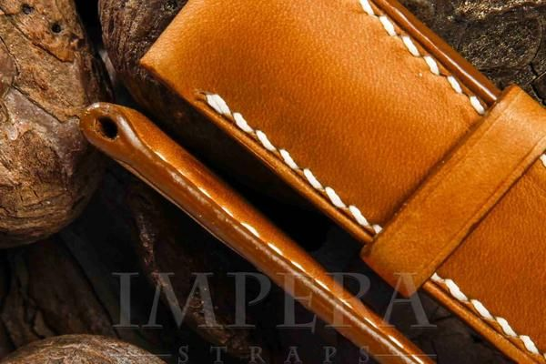 Panerai Vegetable Tanned Mustard Leather Watch Strap,https://www.imperastraps.com