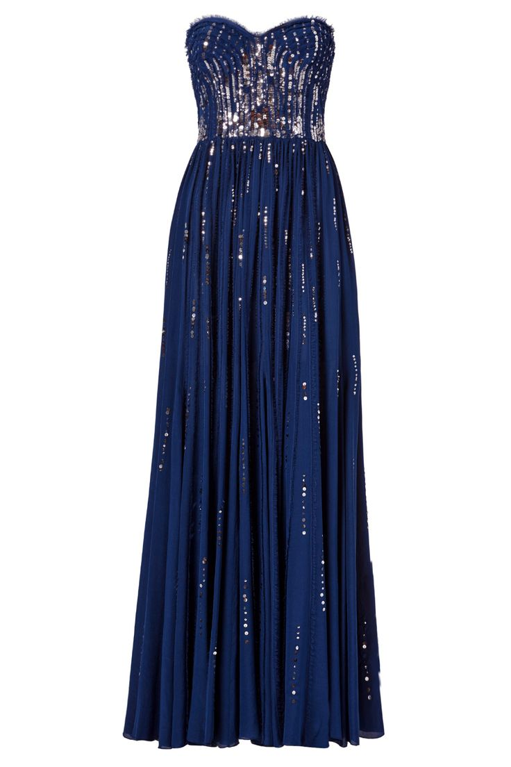 Meteor Shower Gown by Rebecca Taylor..... I want this in GRAY or silver