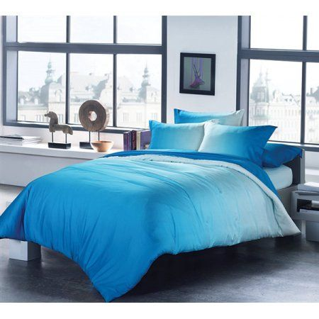Ombre Aqua Comforter (with Invisible Tacking)