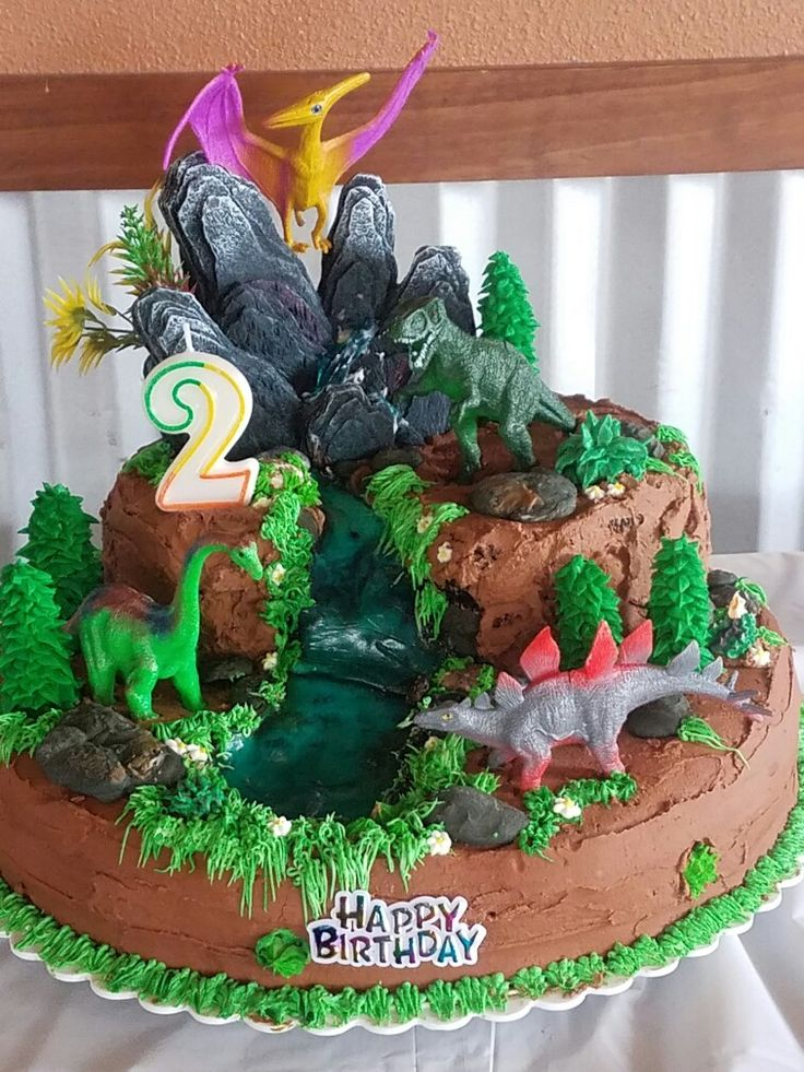 My First Dinosaur Cake Triple Chocolate Cake W Cherry