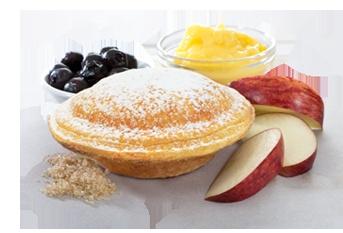 jesters blueberry apple and custard pie!!