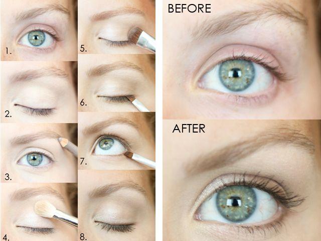 Natural-looking eye makeup